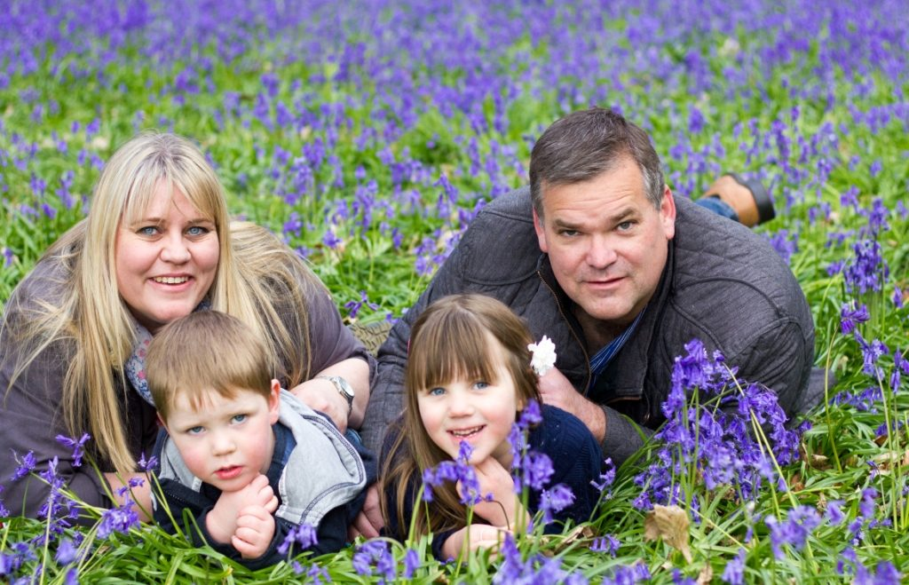 Family photo shoot in Bluebells, Guildford